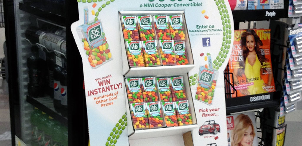 TIC TAC Promotes Mini Cooper Instant Win Sweepstakes - Point of