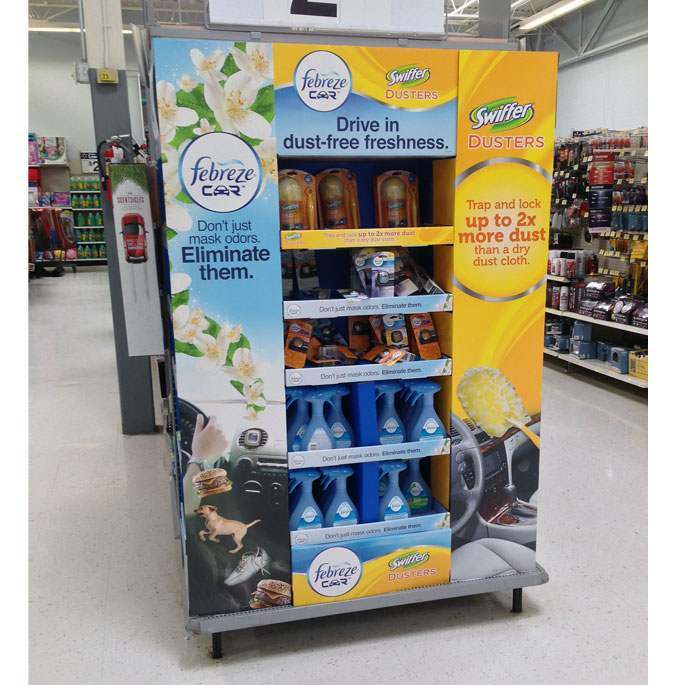 Febreze Drive In End Cap Display