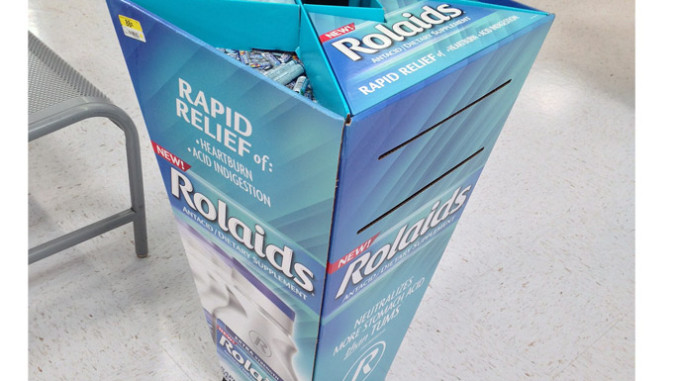 Rolaids Stanchion Display