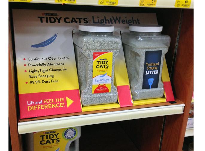 Tidy Cat On Shelf Demo Display