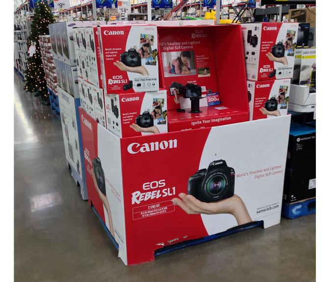 Canon Rebel Pallet Display