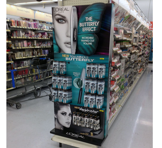 L'Oreal Butterfly Effects End Cap Display
