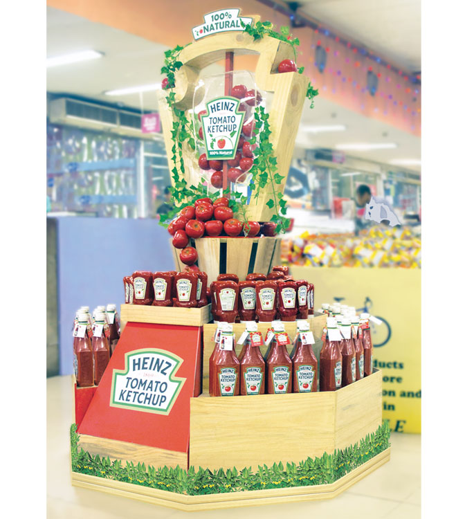 Heinz Goes Natural Stacker Display