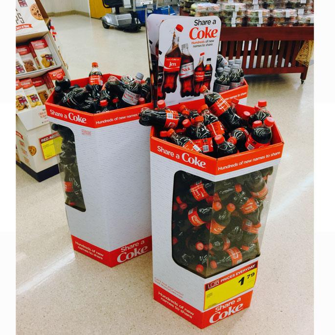 Share a Coke Dump Bin Display