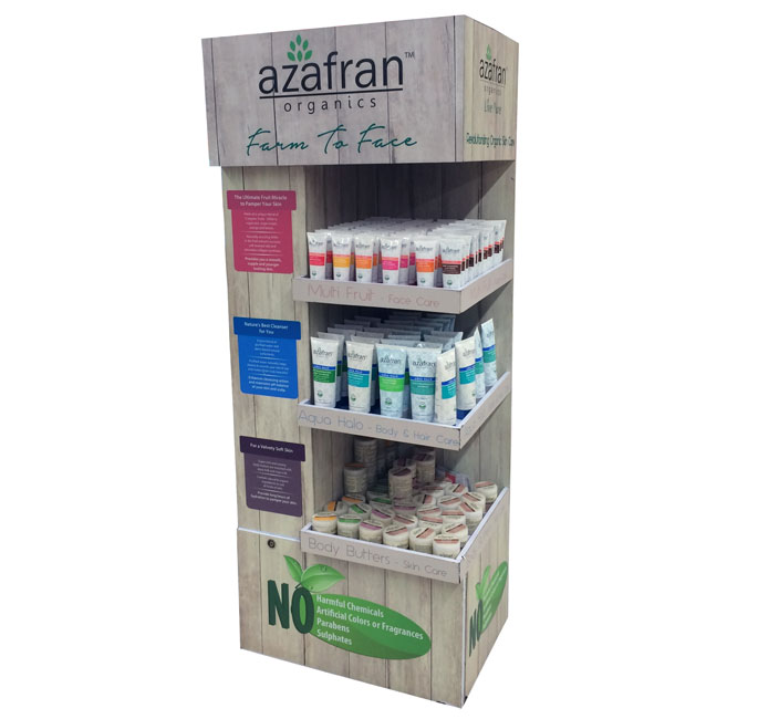 Azafran Organics Floor Display