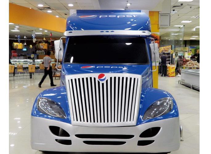 Pepsi Retail Truck Display