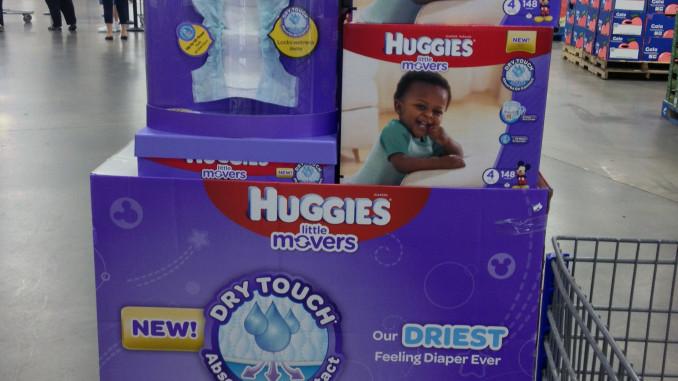 Huggies Little Movers Pallet Display