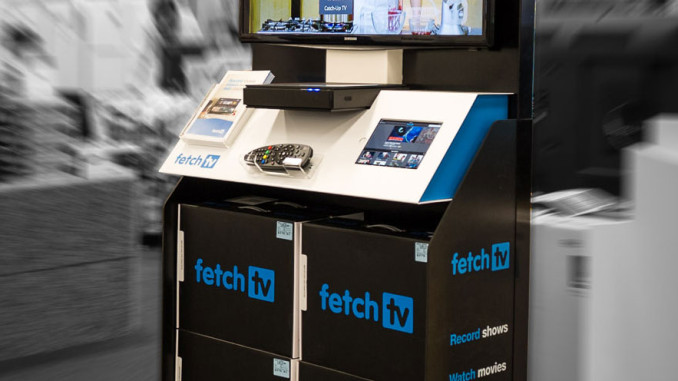 Fetch TV Floor Display