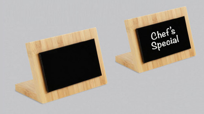 FFR Merchandising Eco-Friendly Bamboo Write-On Sign Board