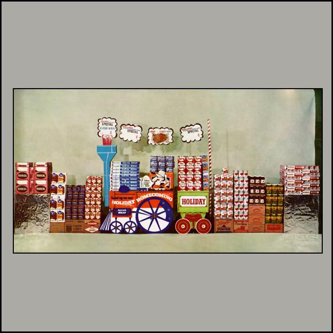 Holiday Food Train Display