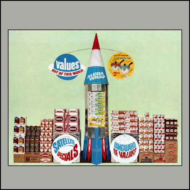 Alcoa Wrap Rocket Floor Display