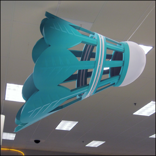 Badminton Water Can Ceiling Sign