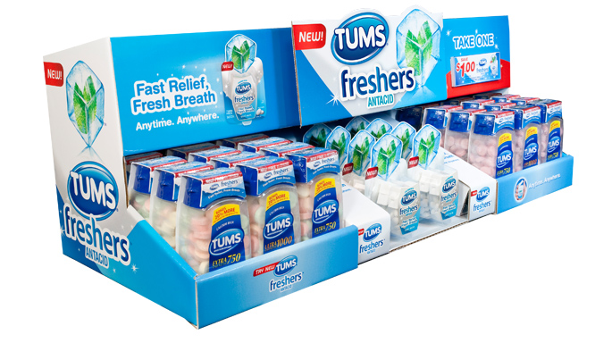 Tums Freshers End Cap Tray