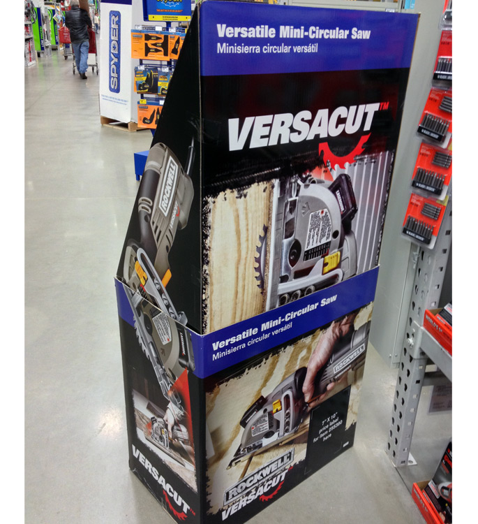 Rockwell Versacut Floor Display