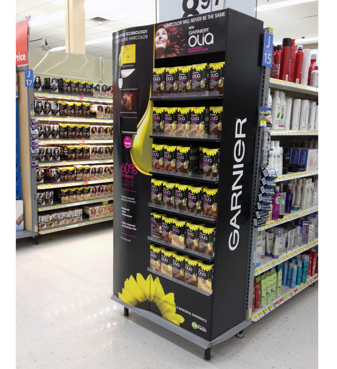 Garnier Olia End Cap Display