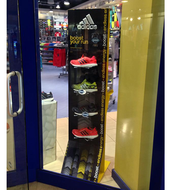 Adidas Boost Floor Display