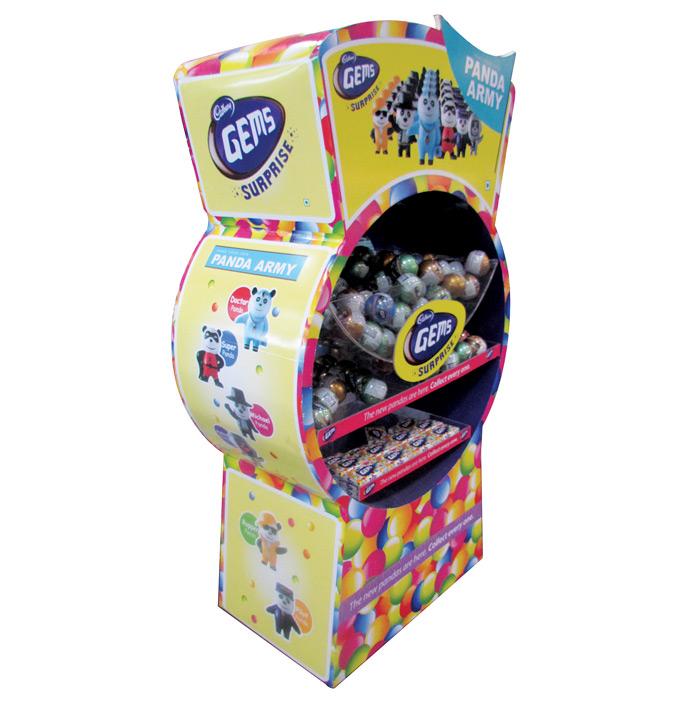 Cadbury Gems Floor Display