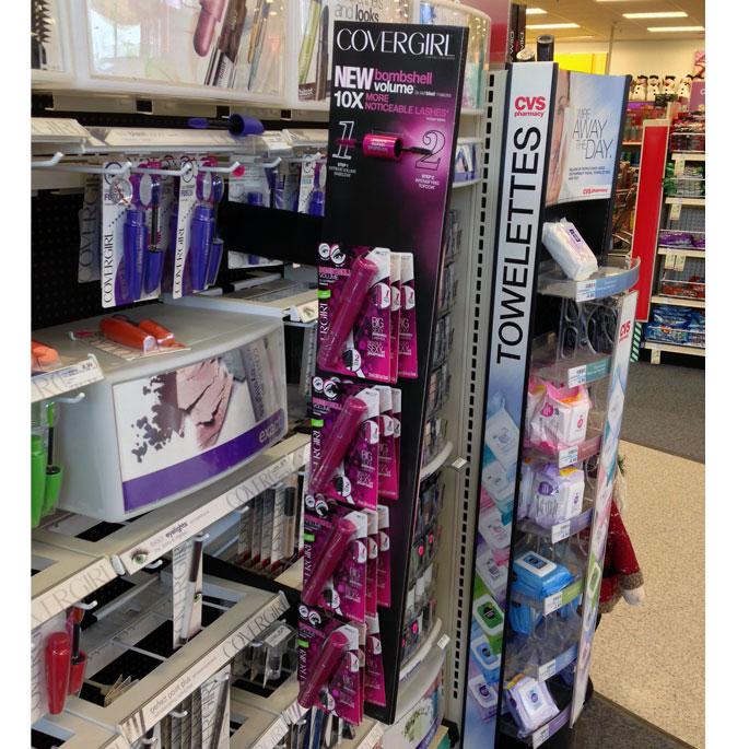 Covergirl Bombshell Mini Wing Display