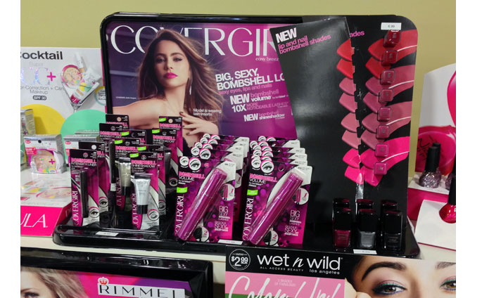 Covergirl Bombshell Shelf Display