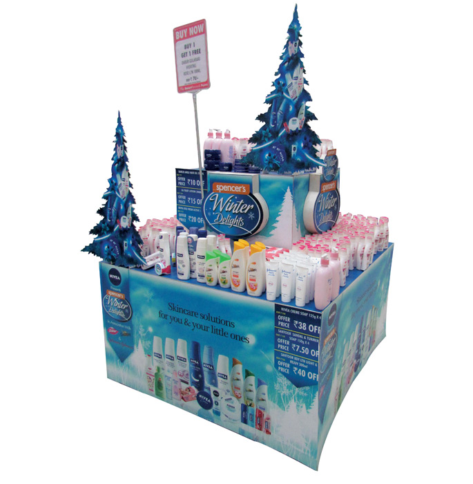 Spencer's Winter Brand Table Display