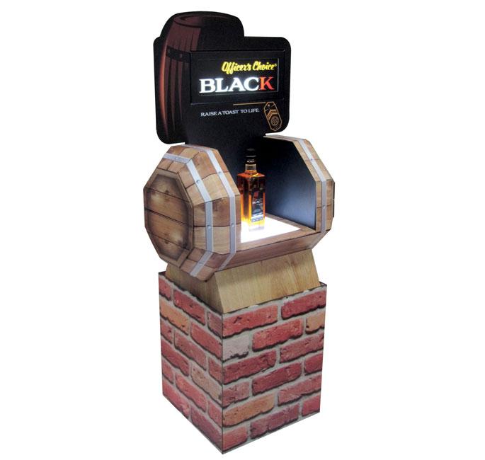 Officer's Choice Black Floor Display