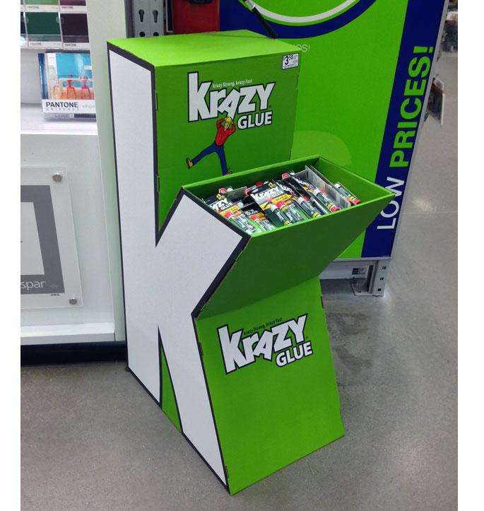 Krazy Glue Floor Display