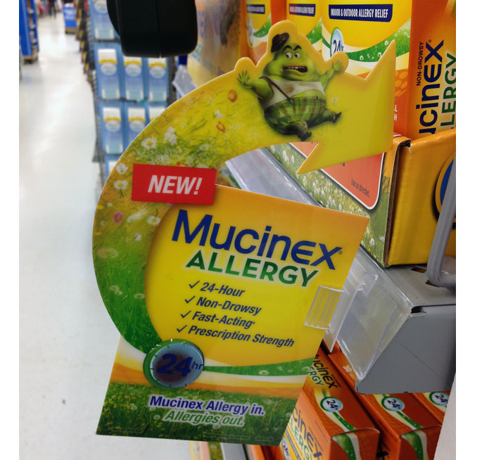 Mucinex Allergy Aisle Violator