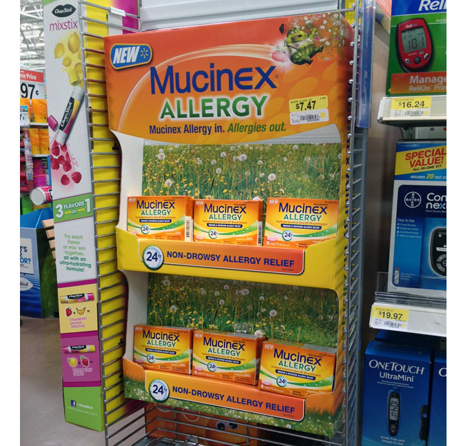 Mucinex Allergy Side Kick Display