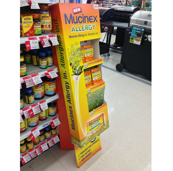 Mucinex Allergy Floor Display
