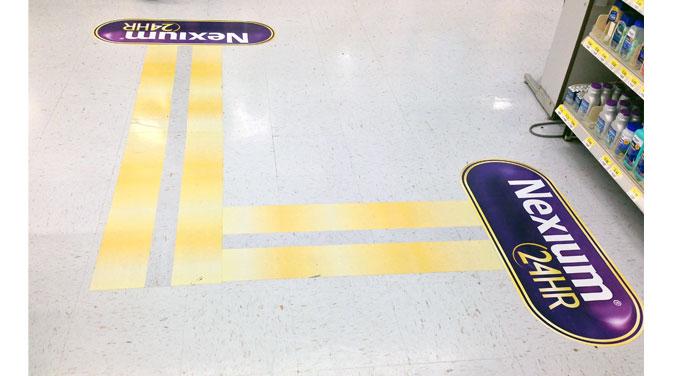 Nexium Floor Graphics