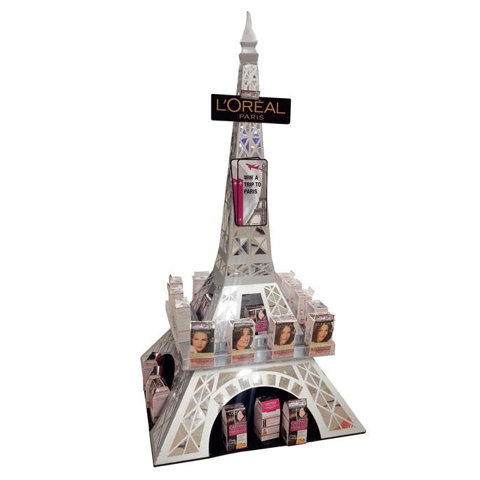 L'Oreal Paris Eiffel Tower Floor Display