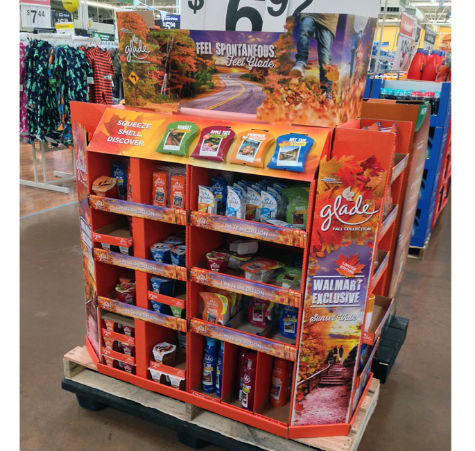 Glade Fall Fragrance Pallet Display
