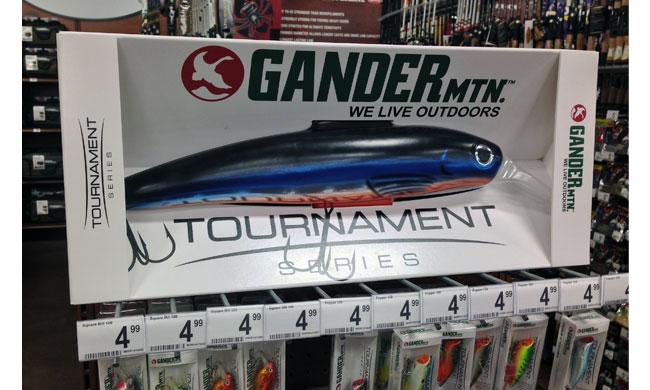 Gander Mountain Fishing Lures End Cap Display