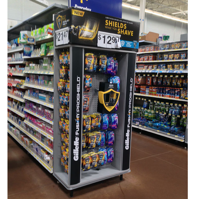 Gillette Fusion ProShield End Cap Display