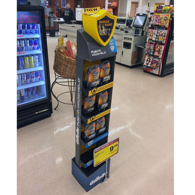 Gillette Fusion ProShield Floor Stand Display