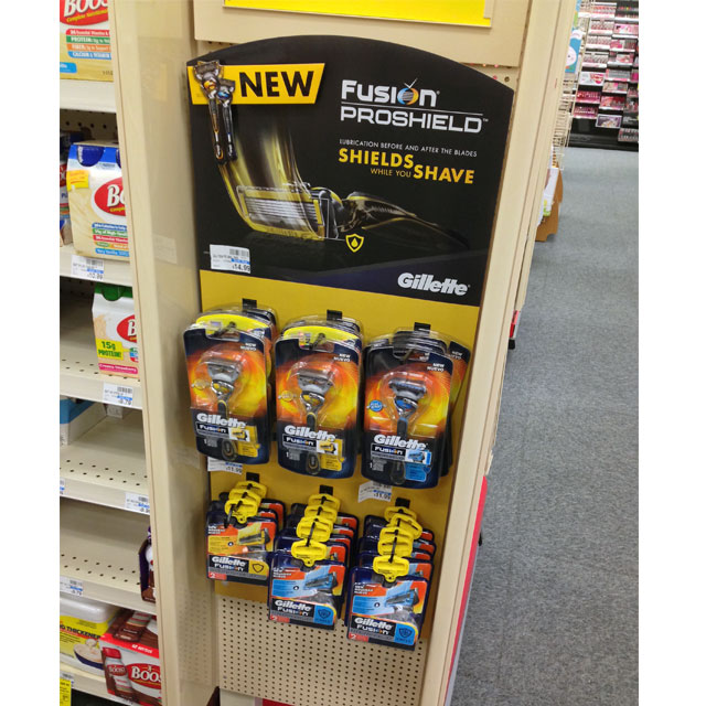 Gillette Fusion ProShield Side Kick Display