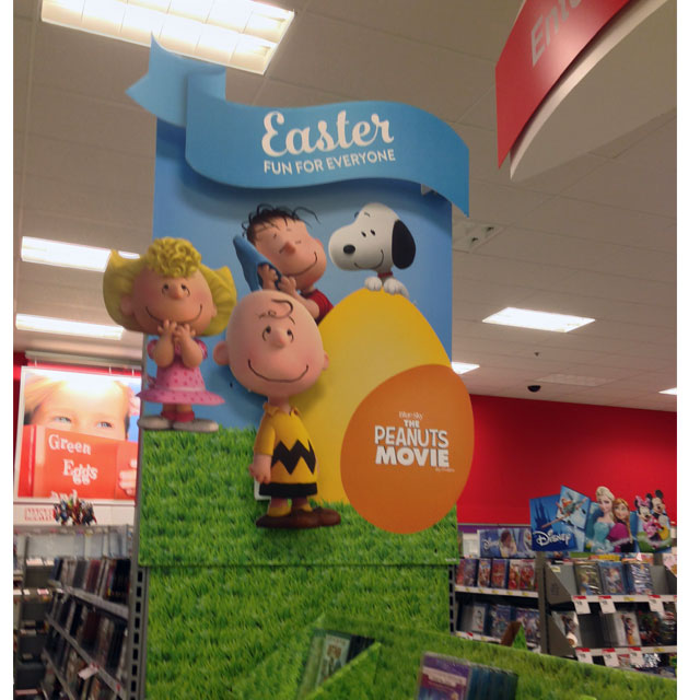 Peanuts Easter Movie End Cap