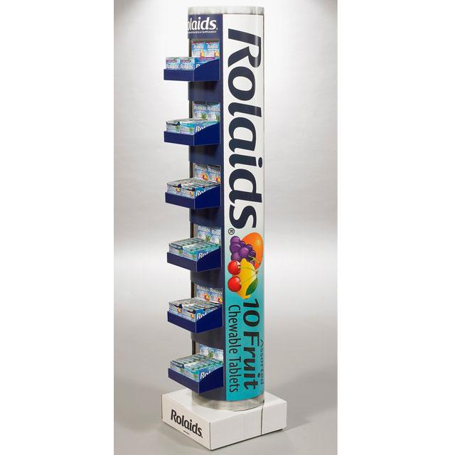 Rolaids Roll Floor Display