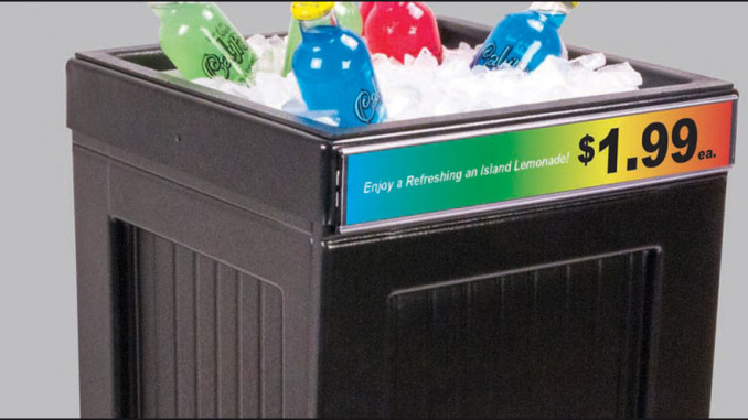 New Mobile Ice Bin Merchandiser