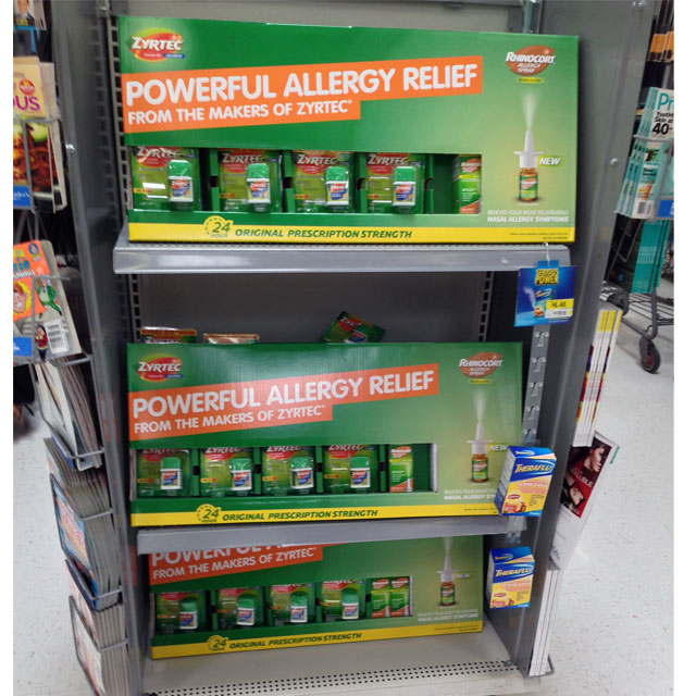 Zyrtec Allergy Relief End Cap Trays
