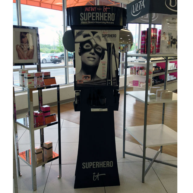 it Cosmetics Superhero Floor Display