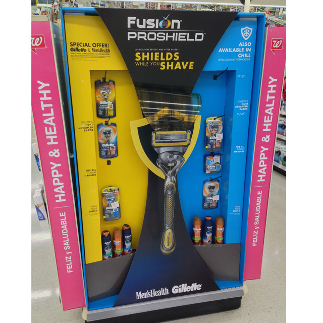 Gillette Fusion Proshield Razor End Cap