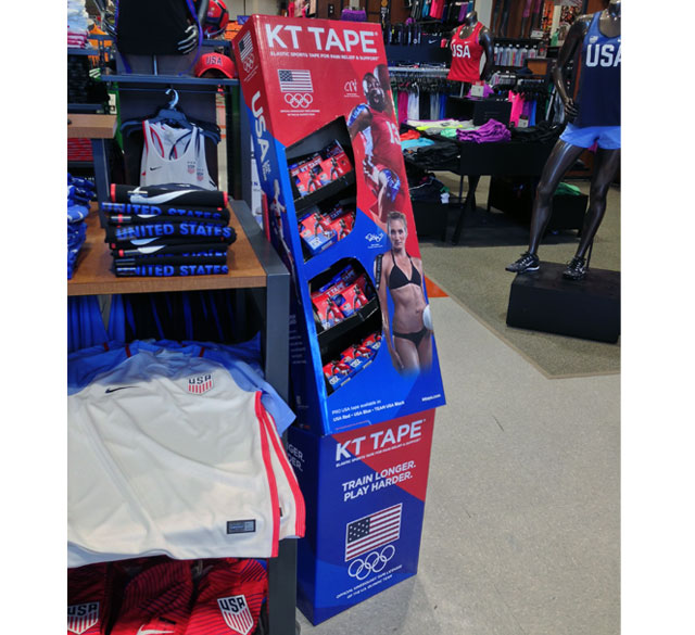 KT Tape Olympic Floor Display