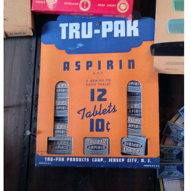 Tru-Pak Aspirin Display