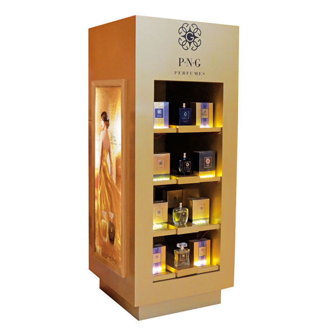 P N Gadgil Perfumes Floor Display