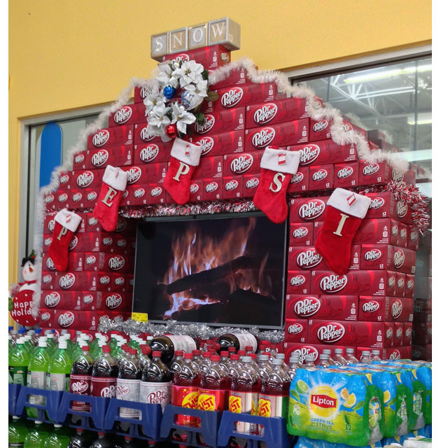 Pepsi Holiday Retail Displays