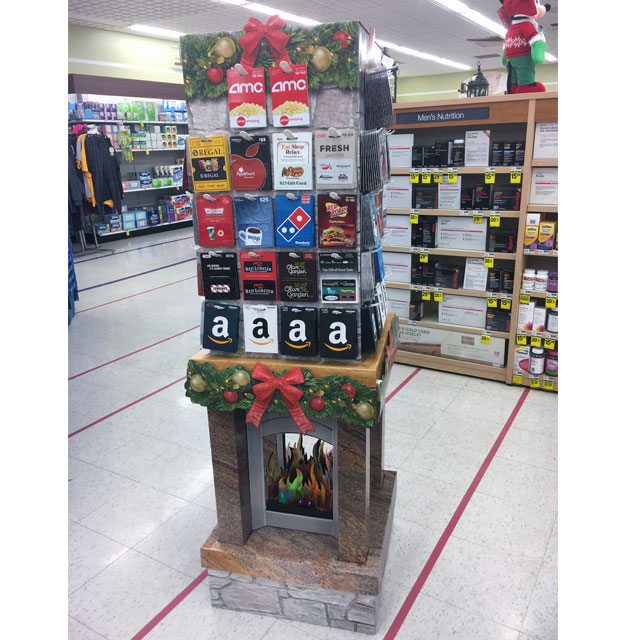 Incomm Holiday Fireplace Display