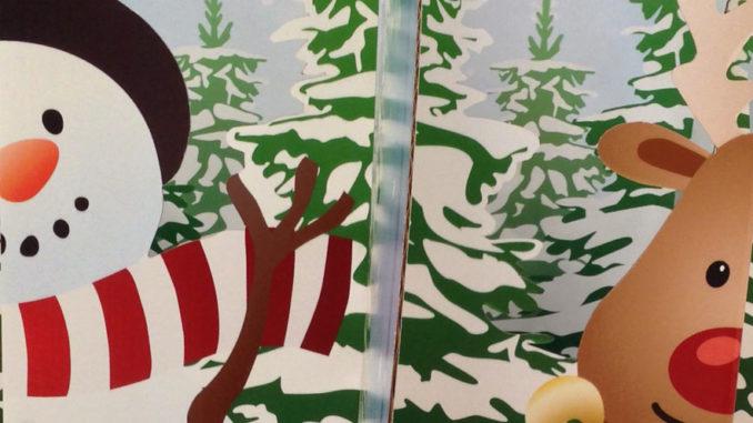Holiday Snow Globe Gift Card Display