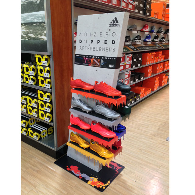 Adidas Dipped Cleat Floor Display