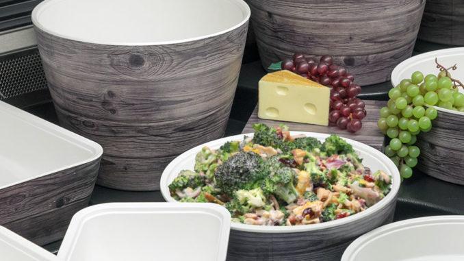New Haven Oak-Look Melamine Servingware